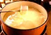 Fondue de queijo com batata