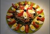 Salada de vagem com tomate