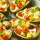 Abacates Recheados com Tomates  e Alcaparras